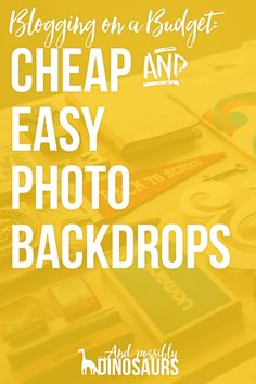 Blogging can be expensive, but it doesn't have to be! Here are some cheap and easy ways to take high-quality images for your blog! Click through for the whole list!