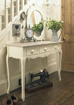 CUSTOM PAINTED Console/ Sofa Table/ Desk by ForgetMeNotsCottage