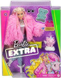 Mattel Barbie, Barbie Doll Set, Barbie Sets, Barbie Fashionista, Pink Streaks, Little Girl Toys, Fluffy Coat, Lol Dolls, Barbie Furniture