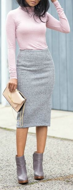 Pink + grey.