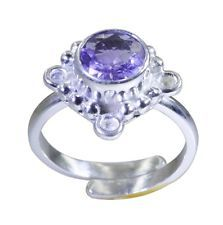 mesmeric Amethyst 925 Sterling Silver Purple Ring jaipur L-1in US 5678