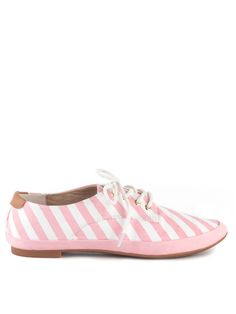 Pink Stripe Shoes! L