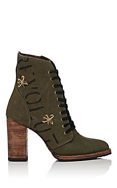 Dana Canvas Ankle Boots