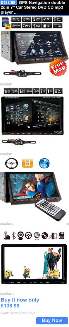 Vehicle Electronics And GPS: Gps Navigation Double 2Din 7 Car Stereo Dvd Cd Mp3 Player Radio Usb/Sd+Ipod+Tv BUY IT NOW ONLY: $138.99