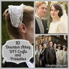 10 Downton Abbey Inspired DIY Crafts & Printables