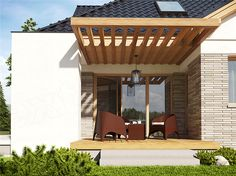 Here you will find photos of interior design ideas. Modern Bungalow Exterior, Small House Plans, Comfort Zone, Pergola, House Design, Outdoor Structures, Interior Design, Outdoor Decor, Inspiration