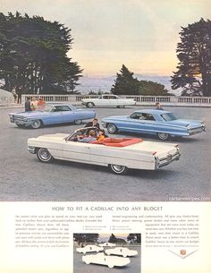 1964 Cadillac Sedan deVille - How to fit a Cadillac into any budget - Original Ad
