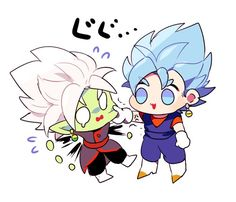 Chibi ssb Vegito and Fused Zamasu - Visit now for 3D Dragon Ball Z compression shirts now on sale! #dragonball #dbz #dragonballsuper