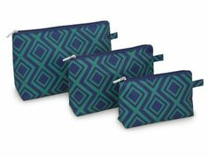 Gemstone 3 Piece Cosmetic Bag Set