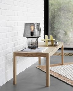 Inspiration for any living room or hallway: The Cosy In Grey Lamp from Muuto, placed atop the Workshop Coffee Table - modern Scandinavian living. Scandinavian Living, Scandinavian Design, Nordic Design, Modern Design, Cool Furniture, Living Room Furniture, Modern Furniture, Living Rooms, Furniture Design