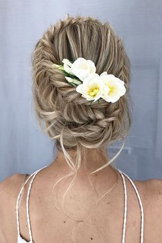 Bridal Hairstyles : 30 Wedding Hairstyles Ideas For Brides With Thin Hair weddin. - - Bridal Hairstyles : 30 Wedding Hairstyles Ideas For Brides With Thin Hair wedding hairstyles for Braided Hairstyles Updo, Braided Updo, Bride Hairstyles, Cute Hairstyles, Bridesmaid Hairstyles, Photomontage, Thin Hair Updo, Wedding Hairstyles For Long Hair, Bridal Hair