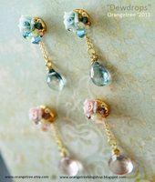 Dewdrops earrings by littleorangetree