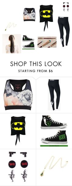 """Running"" by quinlin-willow ❤ liked on Polyvore featuring Ted Baker, NIKE, Converse and Niin"
