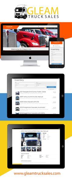Dump Trailers, Trucks For Sale, Cummins, Volvo, Web Design, Day, Design Web, Website Designs, Site Design