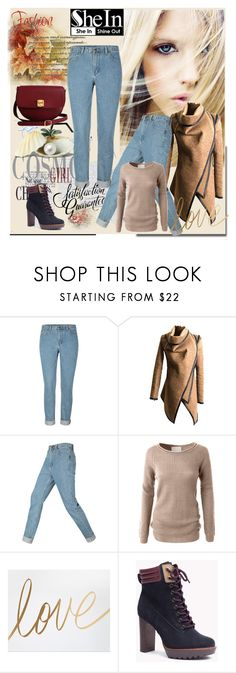 """Shein Denim Pants"" by lila2510 ❤ liked on Polyvore featuring LE3NO and The Code"