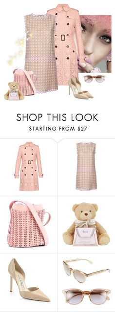 """The Sunday Brunch"" by juliabachmann ❤ liked on Polyvore featuring Burberry, RED Valentino, Paco Rabanne, Harrods, Manolo Blahnik and Oliver Peoples"