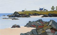 David BARNES artist, paintings and art at the Red Rag British Art Gallery Art Pictures, Art Images, Landscape Art, Landscape Paintings, Of Montreal, Unique Paintings, Coastal Art, Naive Art, Seascape Paintings
