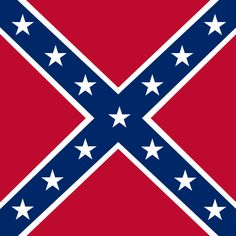 "A photo of the Confederate battle flag of the Army of Northern Virginia. Read more on the GenealogyBank blog: ""Civil War's Last Rebel Town Finally Rejoined the Union—in 1946!"""
