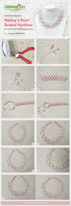 Bridal Pearl Necklace---Making a Pearl Beaded Necklace for Your Perfect Wedding Ceremony