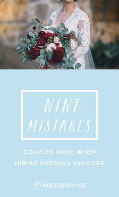 9 Mistakes Couples M www.mccormick-weddings.com Virginia Beach