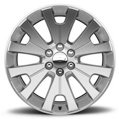 2016 #Tahoe #Wheel, 22 Inch, Manoogian Silver, CK161 SFO: Personalize your Tahoe with these 22-Inch Silver Ultra-Bright Machined Accessory Wheels.