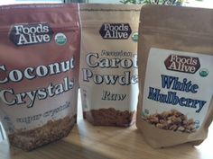 Coconut Crystals, Carob Powder, and White Mulberries from @Foods Alive  are now #AshleyKoffApproved!!