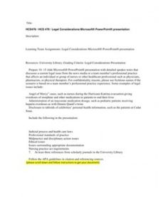 Hcs 478 legal consideration microsoft --> http://www.scribd.com/doc/110643865/HCS478-HCS-478-Legal-Considerations-Microsoft-PowerPoint-presentation