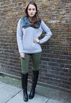 Rosie Fortescue and Dune TRISH Pull on Over the Knee Boot Photograph