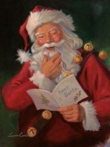 "Dear <b>Santa</b> by <b>Susan</b> <b>Cornish</b> 11""x14"" Art Print Poster"