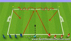 Football/Soccer Session Plan Drill (Colour): 1 v 1 Defending Football Drills For Kids, Football Coaching Drills, Kids Football Training, Soccer Training, Football Soccer, Football Stuff, Hockey, Defensive Soccer Drills, Fun Soccer Drills