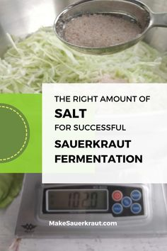 Is your homemade sauerkraut mushy, slimy, too salty? Is it covered in mold? These may be due to too much or too little salt. Learn how to make the best batch of sauerkraut by knowing the right amount of salt. #glutenfree