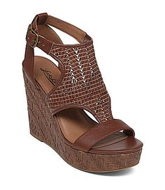 Lucky Brand Laffertie Wedge Sandals #Dillards