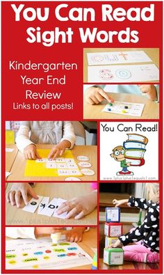 You Can Read Sight Words ~ Year End Review {links to all posts}