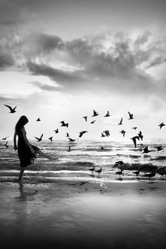 Black And White Photography - The sea does not reward those who are too anxious, too greedy, or too impatient. One should lie empty, open, choiceless as a beach - waiting for a gift from the sea. ~ Anne Morrow Lindbergh