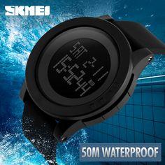 9.35$  Watch here - Hot SKMEI Women Sports Watches Fashion Casual Waterproof LED Digital Watch Women Student Wristwatches For Men Women   #buychinaproducts