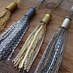 #Bullet casing #tassel #necklaces available at www.thevintagevanity.etsy.com