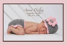 Crochet Baby Diaper Cover Hat Set Newborn by crochethatsbyjoyce, $24.95