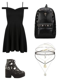 """""""Untitled #43"""" by missnightshine on Polyvore featuring WithChic, Iron Fist, Miss Selfridge, women's clothing, women's fashion, women, female, woman, misses and juniors"""