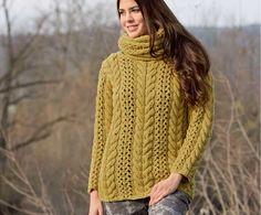 Пуловер горчичного цвета - схема вязания спицами. Вяжем Свитеры на Verena.ru