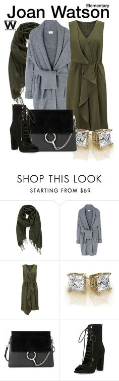 """""""Elementary"""" by wearwhatyouwatch ❤ liked on Polyvore featuring Nordstrom, Acne Studios, Adrianna Papell, Chloé, Kendall + Kylie, television and wearwhatyouwatch"""