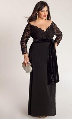 Igigi Anastasia Plus Size Gown in Onyx $295