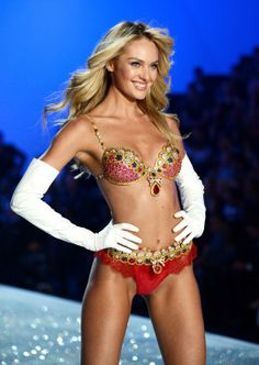 Model Candice Swanepoel walks the runway wearing the $10 million Royal Fantasy Bra during the 2013 Victoria's Secret Fashion Show at the 69t...