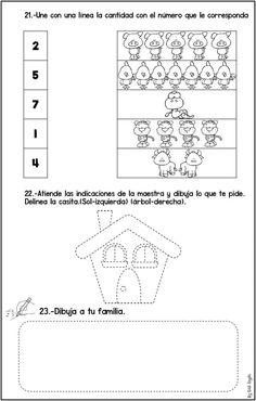 Evaluación Diagnostica Primero de Primaria y Primer Grado - Imagenes Educativas Spanish Lessons, Kids Education, Worksheets, Homeschool, Classroom, Activities, Teaching, Math, Ideas Para