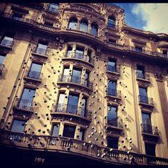 Decorated building on Via Laietana in Barcelona !