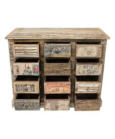 Another great find on #zulily! Reclaimed Wood Vintage Appliqué Cabinet by Vintage Addiction #zulilyfinds