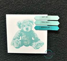 Stampin' UP! Baby Bear Color Combinations #stampinup #remarkablycreated