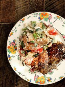 Food e Mag dxb Issue 2 - Spring Chicken recipes - zaatar chicken with greek salad