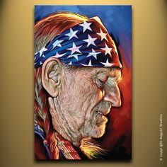 WILLIE NELSON Original Painting poster by AugustStudiosOnline