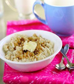 Crock Pot Oatmeal Recipe  (steel-cut oats)