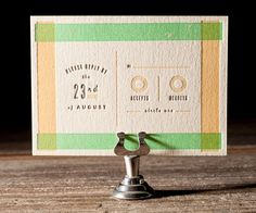 Letterpress Wedding Invitations | Farmstand Design | Bella Figura Letterpress